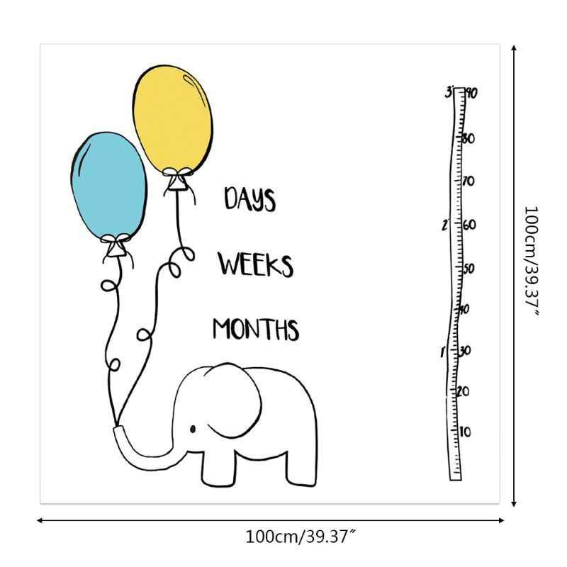 신생아 월간 마일스톤 사진 소품 귀여운 꽃 만화 DIY 담요 어린이 아기 유아 성장 사진 배경 천을
