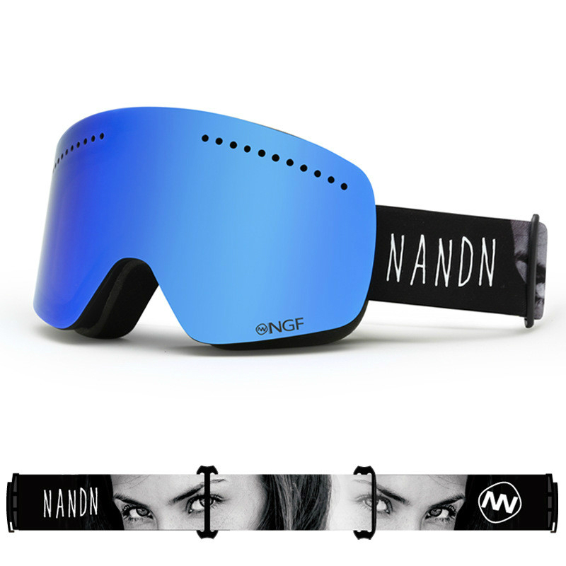 Outdoor Unisex Ski Goggles Double UV Anti fog Big Ski Mask Glasses Women Men Skiing Snow Snowboard Goggles Multifunction Eyewear|Skiing Eyewear|Sports & Entertainment - title=