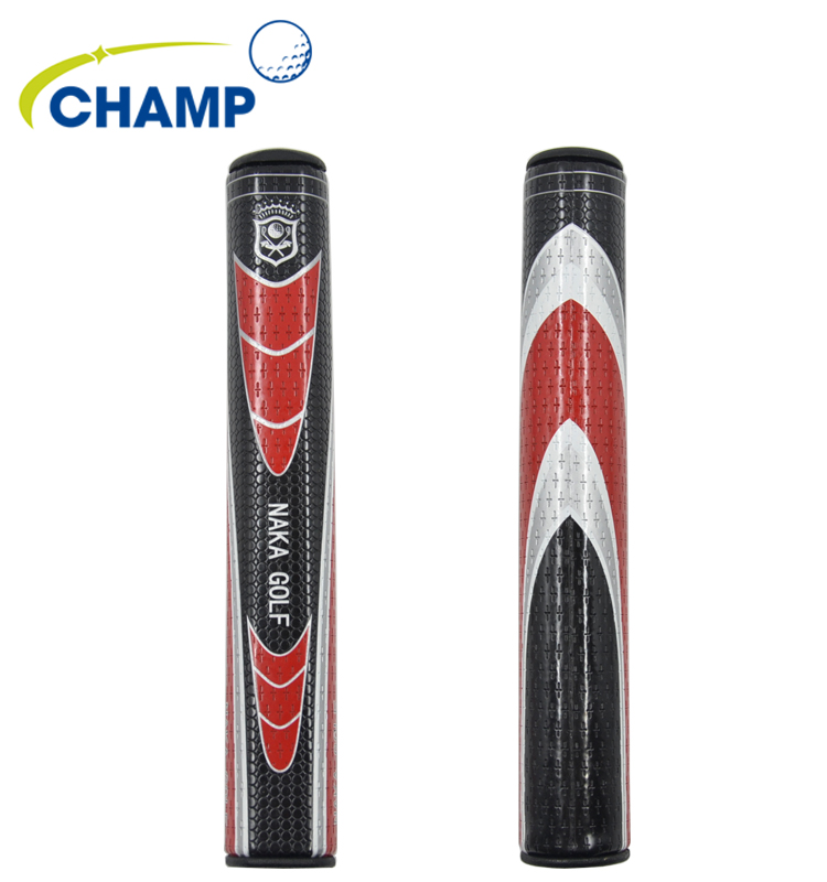 NAKA PU Leather Golf Putter Grip Slim 5.0 Black Red Golf Clubs On Selling