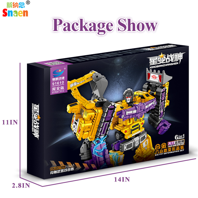 Transformation Robot Action Figures Diecast Engineering Deformed Toy Cars Blocks Assemble Educational Toys for Childrens Boys 5