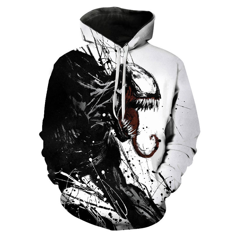 New Men Women Children Hoodies Marvel 3D Printing Venom Casual Cool Hoody Sweatshirt Boy Girl Fashion Streetwear Hooded Pullover