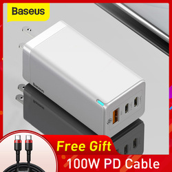 Baseus 65W GaN USB Fast Charger Quick Charge 3.0 For iPhone 11 PD3.0 US Plug Support FCP AFC SCP QC 3.0 For Samsung S10 Xiaomi