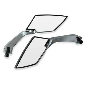 Image 4 - Espejo retrovisor grande para motocicleta, espejos laterales plegables, ajuste de aluminio CNC para yamaha tmax 530 triumph benelli trk 502