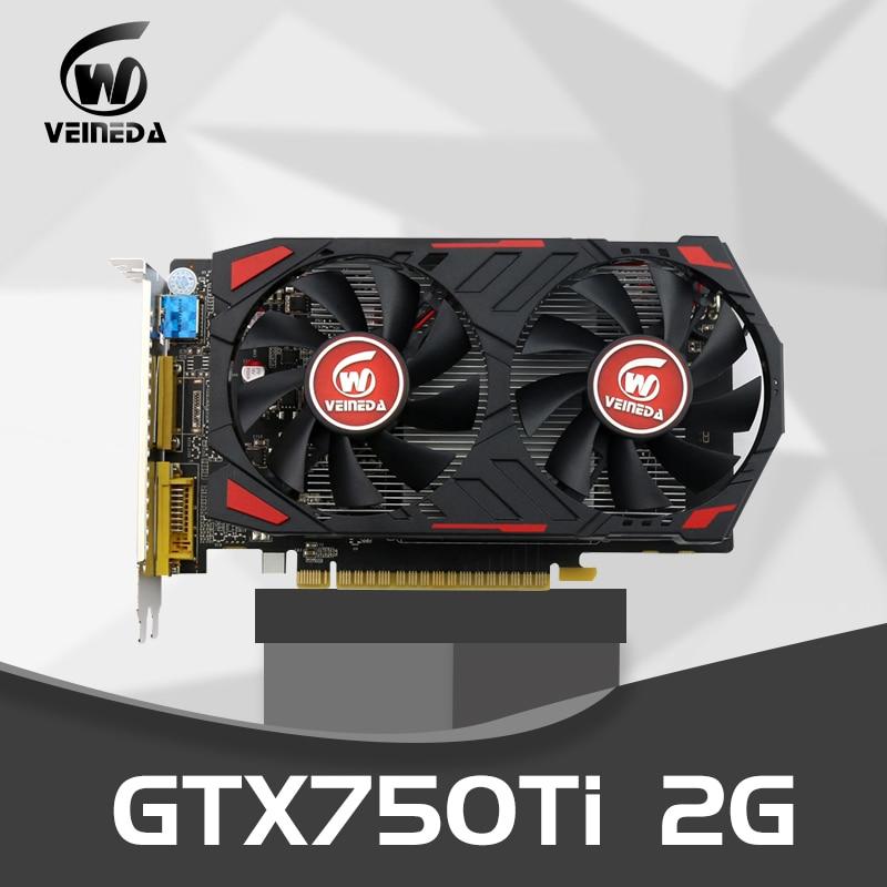 Gráficas de Mesa Placas de Vídeo para Jogos de Nvidia Veineda Gddr5 128 Bit Placas Pci Express 3.0 Geforce Gtx 750 ti 2g