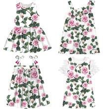 new big Brand girl Dress  best printing Children Clothing 2020 Girl kids dress  Fashion Cute Party Dress Girls baby dress