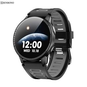 Image 1 - SENBONO IP68 עמיד למים גברים Smarwatch Bluetooth 5.0 כושר גשש שעון ספורט נשים שעון חכם עבור IOS אנדרואיד