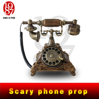 JXKJ1987 Real Life Room Escape Game Props Scary Phone Prop Dial the Correct Number to Release the EM Lock or Get A Sound Clue