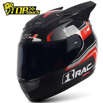 2020 hombres Motocross Casco carretera Cruz cascos para carreras De la motocicleta del Casco De la cara completa Capacete De Moto Casco con esquina