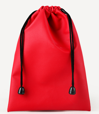10pcs/lot 11x17.5cm Black/Red/Blue/Coffee/Grey New Waterproof Drawstring PU Leather Bags Wedding Gift Headset Organizer Bag