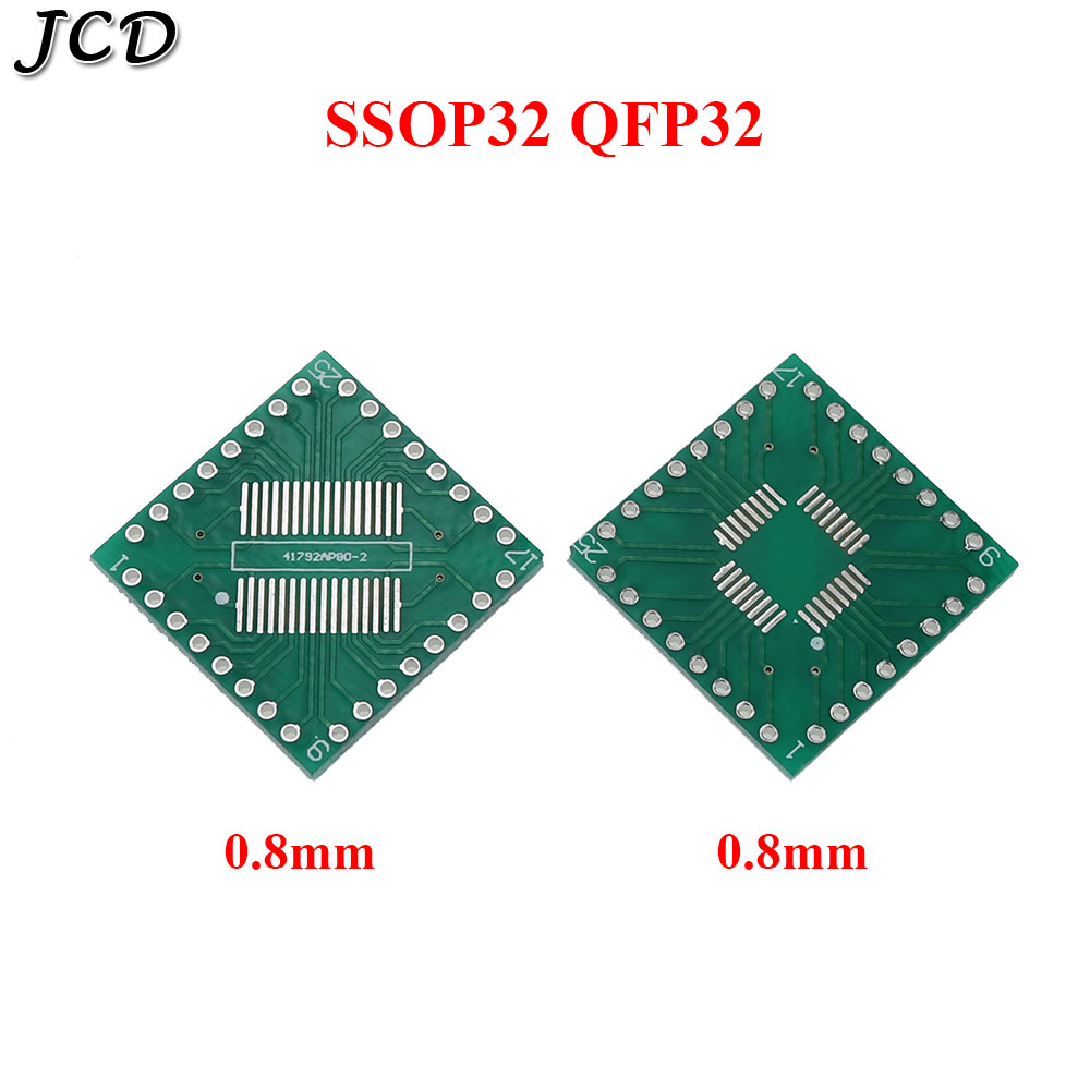 JCD 5 stücke <font><b>Adapter</b></font> PCB SOP32 SSOP32 QFP32 TQFP32 <font><b>LQFP32</b></font> FQFP32 ZU DIP 32 Transfer board 0,8mm pitch IC <font><b>adapter</b></font> Buchse image