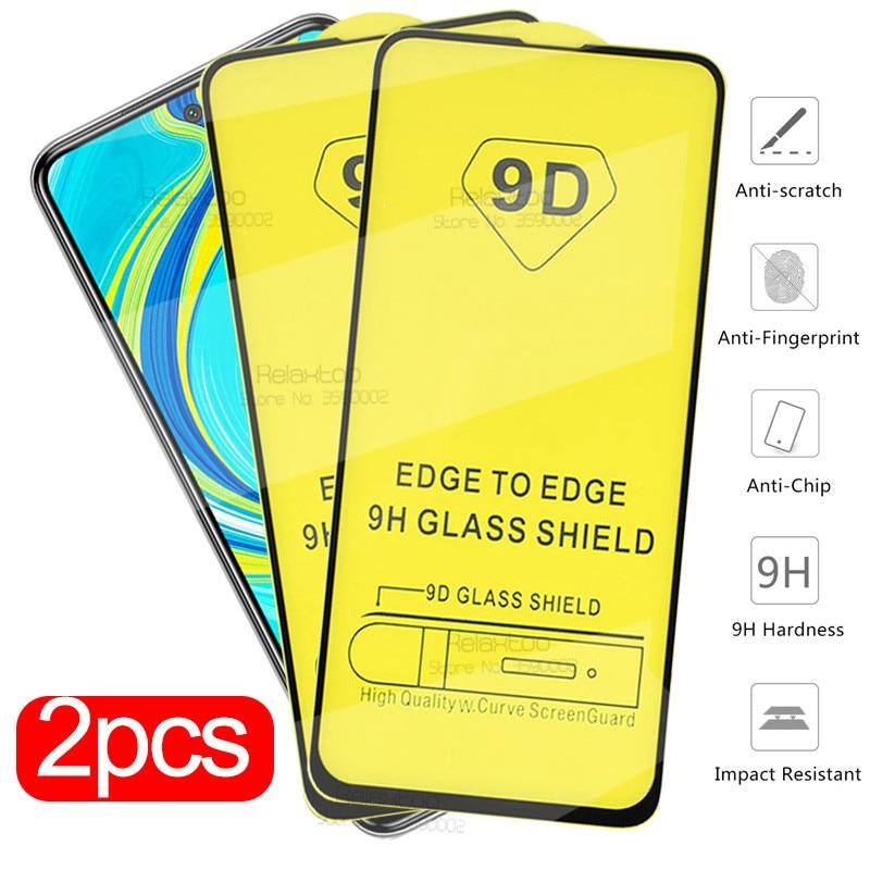 2pcs Redmi Note 9s 9 S Glass 9D Full Glue Protective Glass For Xiaomi Redmi Note 8 9 Pro Max 8t 8a 7 A 7a Screen Protector Film