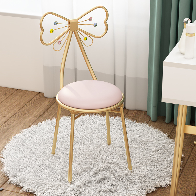 Girls Butterfly Chairs Nordic Clothing Store Fabric Chairs Home Bedroom Make-up Chairs Coffee Shop Beauty Salon Backrest Chairs