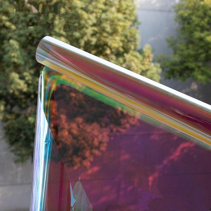 Dichroic Film SUNICE 100x300cm Dichroic Iridescent Window Tint Glass Tinting House Mall Festival Decoration DIY Cosplay