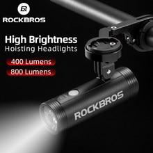 Rockbros Fiets Licht Fiets Usb Oplaadbare Licht Mtb Fiets Licht Power Bank Zaklamp Waterdichte Fiets Koplamp