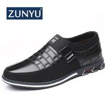 ZUNYU; Новинка года; мужская повседневная обувь из натуральной кожи; Брендовые мужские лоферы; мокасины; дышащая обувь для вождения без застежки; большие размеры 38-46