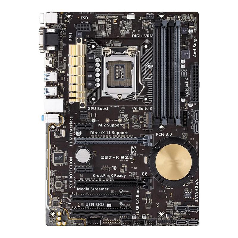 Original For ASUS Z97-K R2.0 Desktop motherboard MB Z97 LGA 1150 ATX DDR3 32GB PCI-E 3.0 USB3.0 SATA3.0 100% fully Tested 1