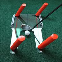 PC Golf Alignment Trainer Aid Swing Training Speed Trap Practice Base Tool