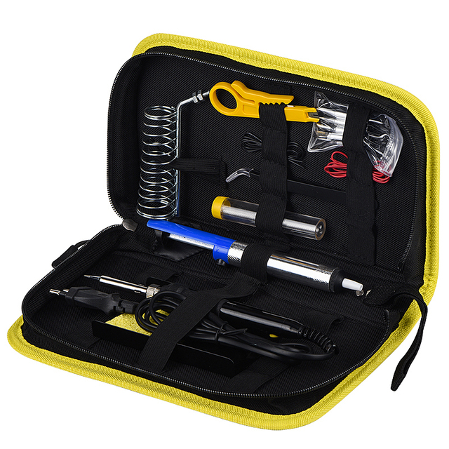 WMORE Electric soldering iron kit LCD Temperature adjustable 80W 110V 220V Welding solder repair tool kits soldering irons tips 1