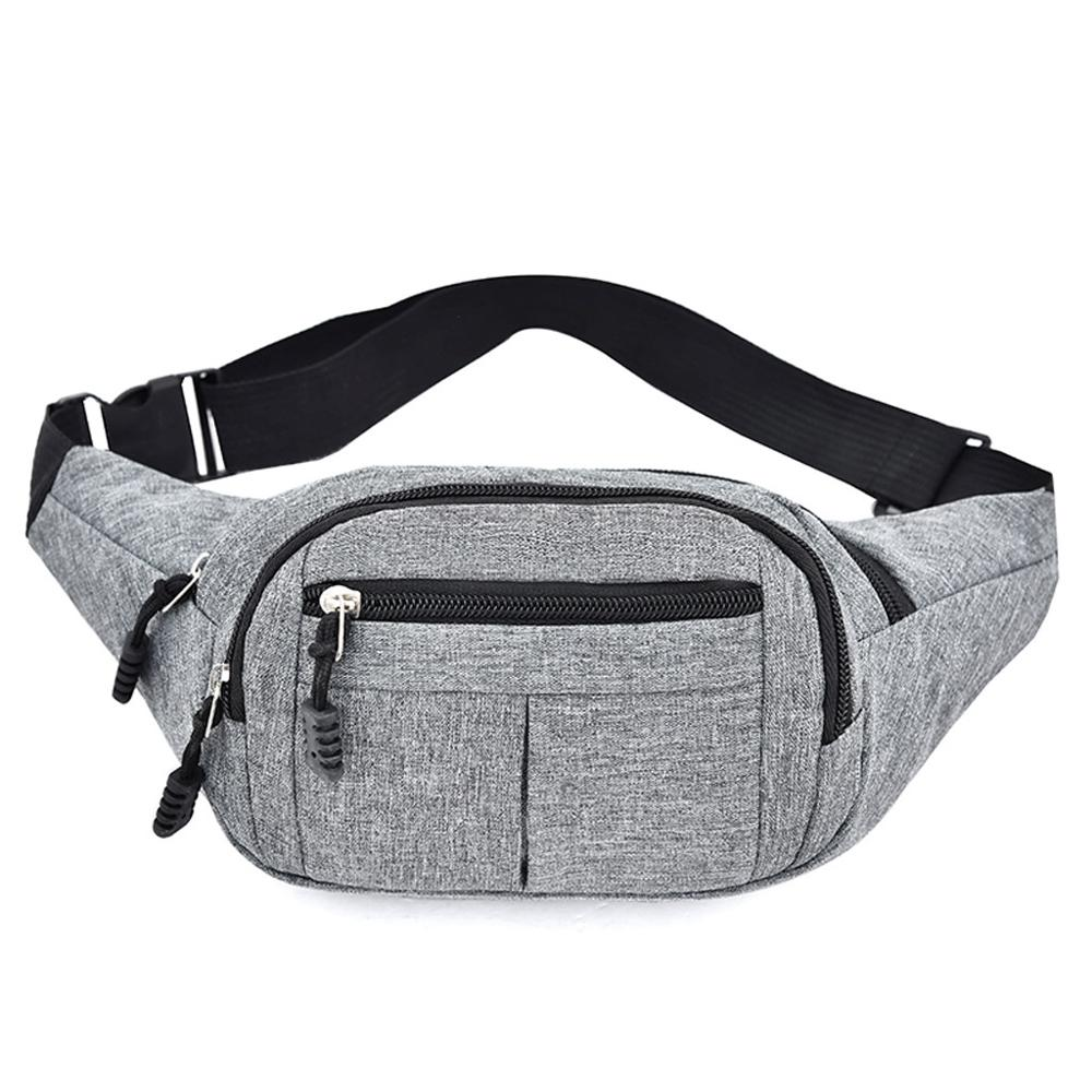 Men's And Women's Simple Leisure Fashion Oxford Sport Fitness Waist Packs Casual Large Capacity Wild Multifunctional H1