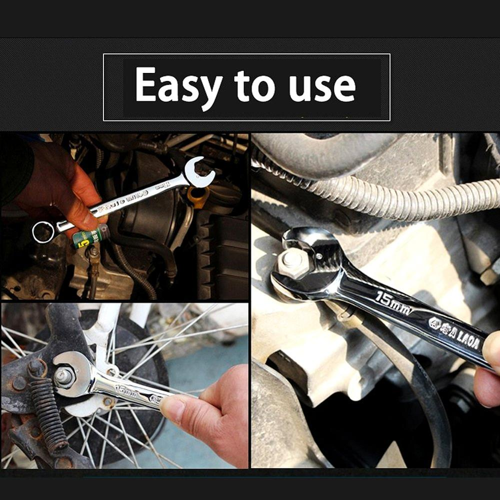 1PCS Apertura especial Llave de trinquete CR-V Llave Bicicleta - Herramientas manuales - foto 6