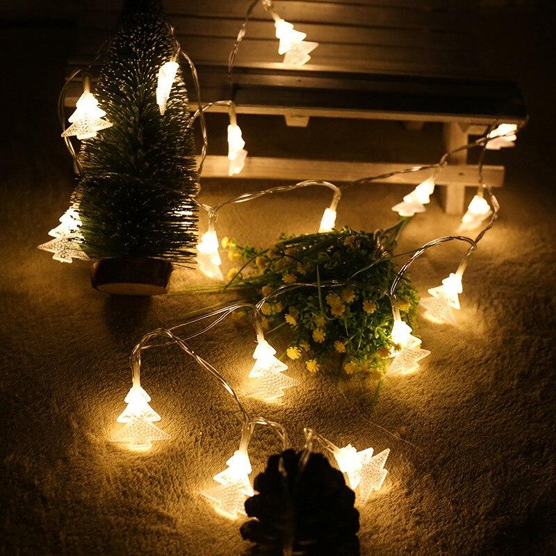 bateria luzes da corda luzes de fadas natal navidad
