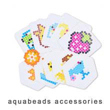 Névoa mágica aqua grânulos aqua cor acessórios diy modelo ervilhas crianças cartão desenhos