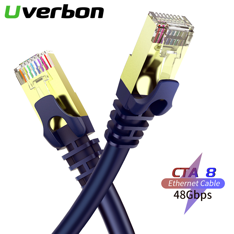 Category 8 Ethernet Cable Cat8 Lan Cable UTP 40Gbps Cat8 RJ 45 Cable 10m Patch Cord For Laptop Router 2000MHz RJ45 Network Cable