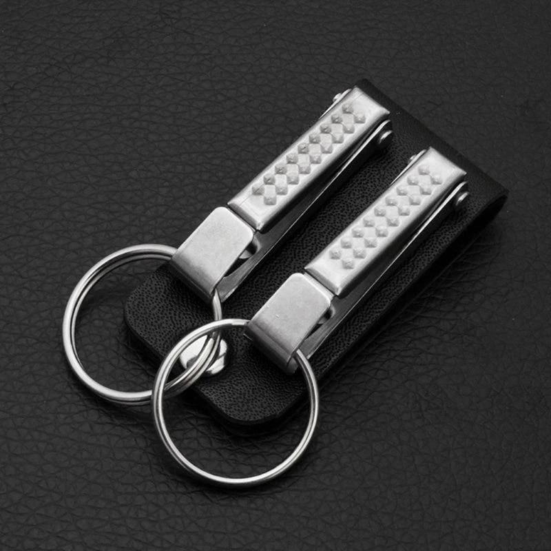 Leather Belt Keychain//Key Ring Holder Key Fob Buckle Clip Loop Keyring Hot Sale