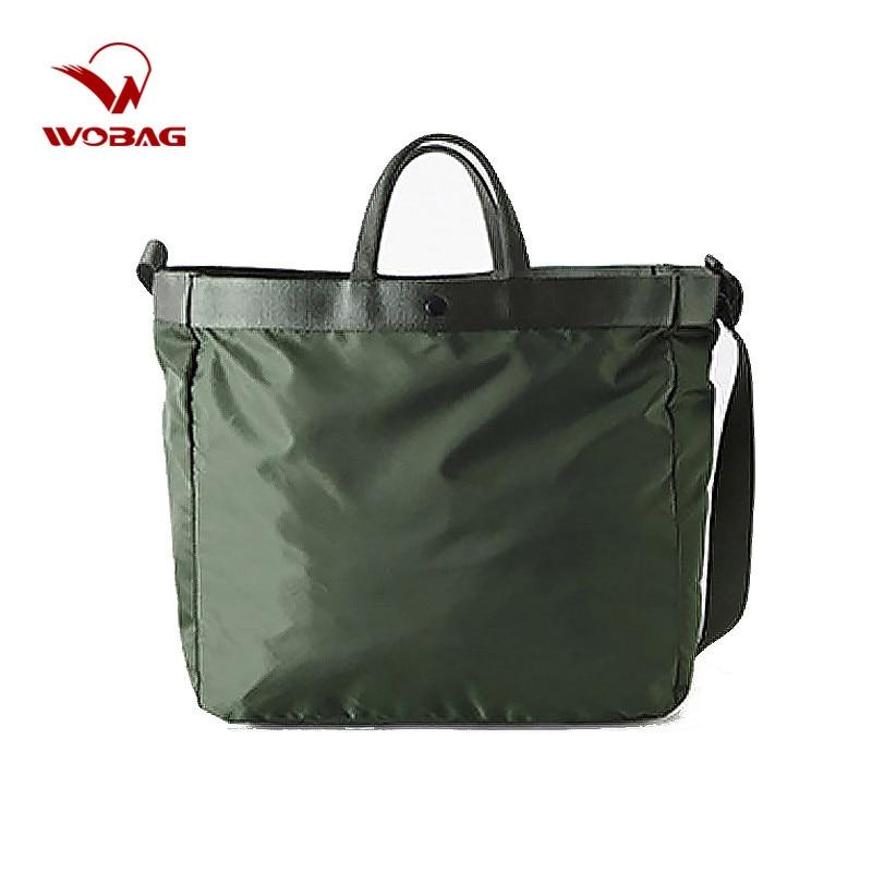WOBAG Nylon Waterproof Large Travel Bag Portable Travel Duffel Bag Women Crossbody Bags Travel Organizer Shoulder Weekend Bags