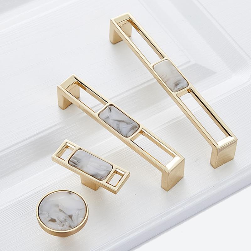 Синий Nordic Мрамор раковина шкаф ручки с выдвижными ящиками и Шкаф Тянет фурнитура для кухонной мебели