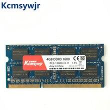 Namy chipset 4gb pc3 10600s 12800 1333 s ddr3, 1600mhz 4gb laptop, módulo para notebook, memória sodimm ram ram