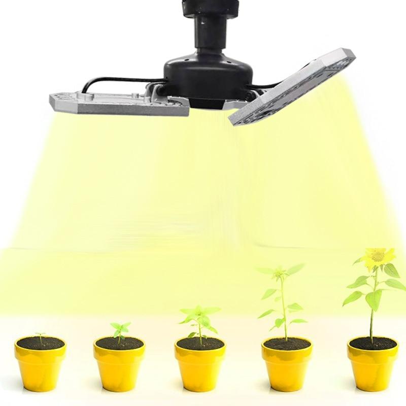 LED Grow Light Solar Full Spectrum 60W 80W 100W E27 Deformable Fold Warm White 3000K LED Plant Fitolamp Phyto Lamp Lights