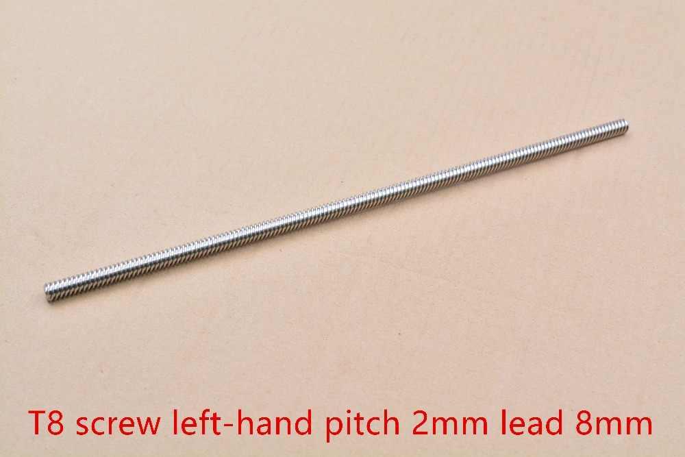 304 สแตนเลส T8 ความยาวสกรูตะกั่ว 100 มม.1 มม.2 มม.3 มม.4 มม.8 มม.10 มม.12 มม.14 มม.16 มม.trapezoidal แกนสกรู 1 ชิ้น