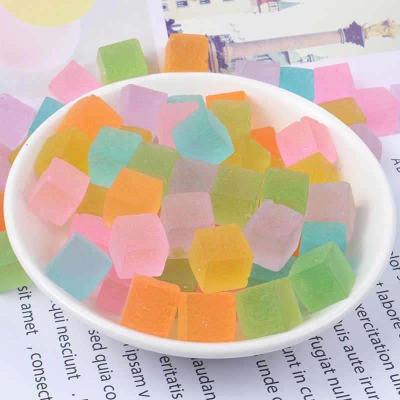 شفافة كريستال مكعب السكر للأطفال Diy بها بنفسك الحرف الطين قوالب الإبداعية الوحل رقيق Filler حشو الاطفال اللعب التفاعلية