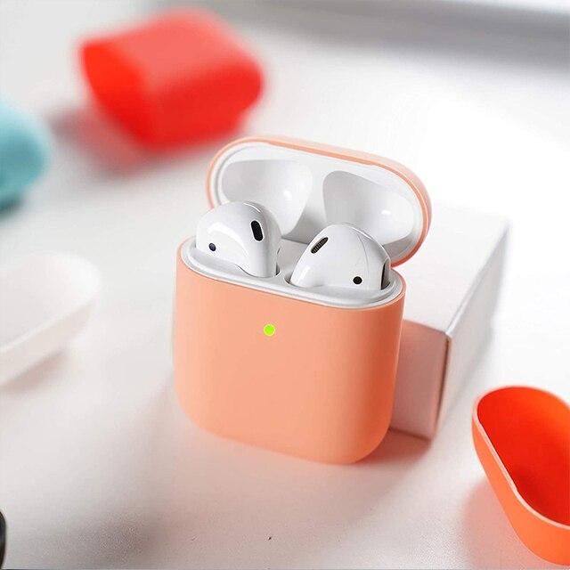 Estuche de silicona para Apple Air Pods Pro, color caramelo, AirPods 1/2, silicona a prueba de golpes, caja de auriculares, logo de embalaje oficial