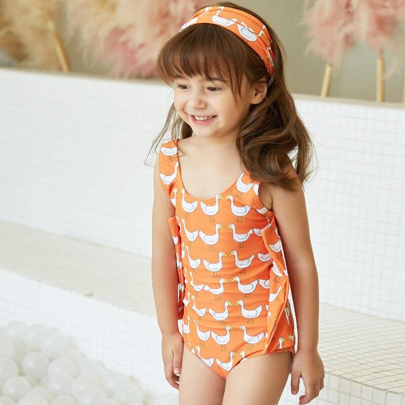 2020 New Style CHILDREN'S Swimwear Children Triangular Cute Hot Springs Swimwear Girls Baby Baby One-piece Swimming Suit