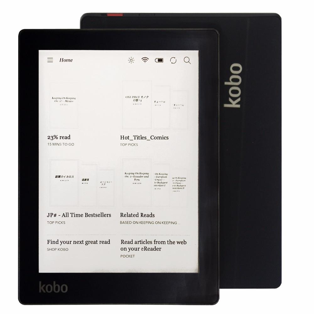 Электронная книга Kobo Aura, устройство для чтения электронных книг, 6 дюймов, разрешение 1024x758 N514, встроенная передняя подсветка, Wi-Fi, память 4 ГБ
