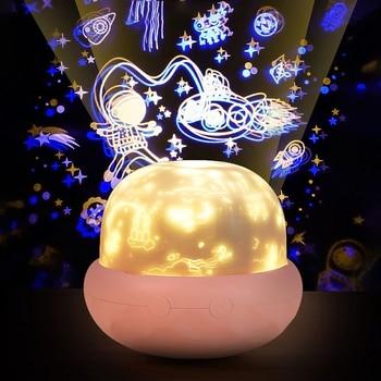 Magic rotating projector night light bedroom decoration night light USB LED night light children's gift mushroom projection lamp pro svet light led mushroom
