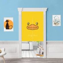 Cartoon dekoracyjne zasłony drzwi, tkanina poliestrowa parawan gobelin, zasłona zaciemniająca ganek łazienka kuchnia dom dziecko pokój