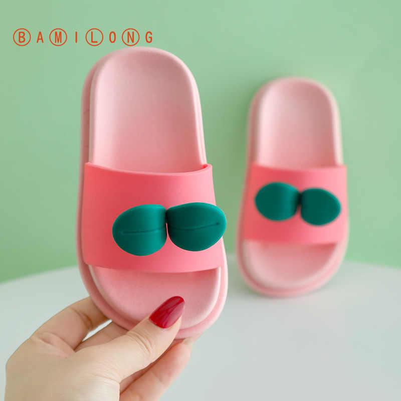 BAMILONGเด็กวัยหัดเดินรองเท้าแตะฤดูร้อนขายร้อนFlip Flopรองเท้าแตะเด็กน่ารักสีชมพูหญิงรองเท้าแตะชายหาดเด็กรองเท้าHouse K110
