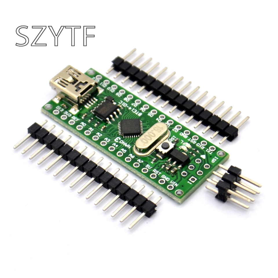 Микроконтроллер Nano V3.0 ATmega168 USB 16M 5V Ch340g Mini USB плата