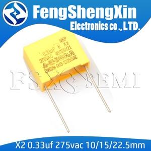 10pcs X2 275V334K 275VAC 0.33uF 330nF MKP ±10% P=22.5MM/10MM/15MM(China)