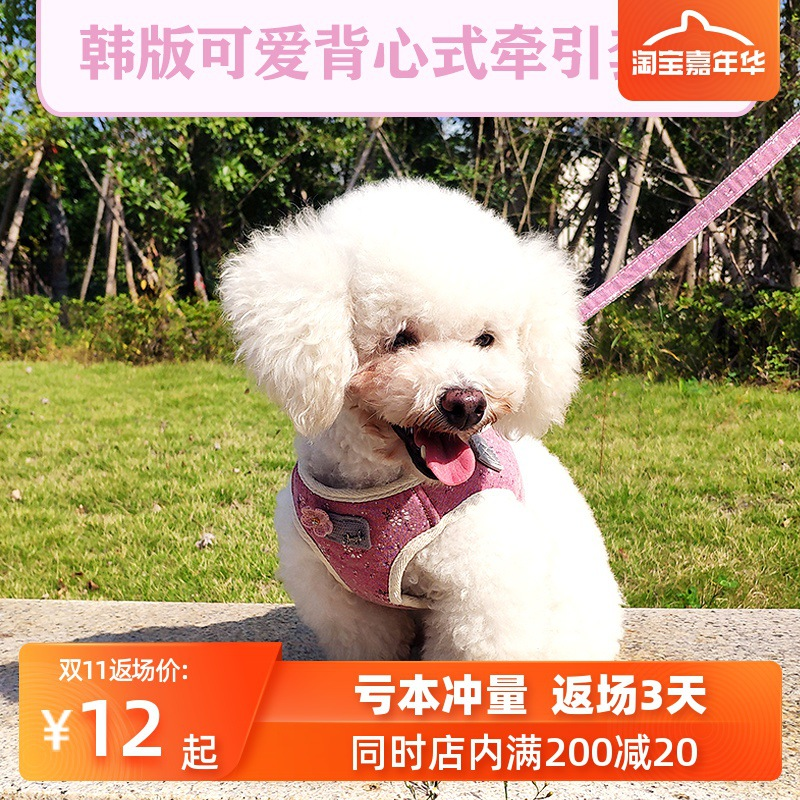 Dog Hand Holding Rope Vest Style Small Dogs Cute Dog Not Le Neck Backpack Small Cat Teddy Pomeranian