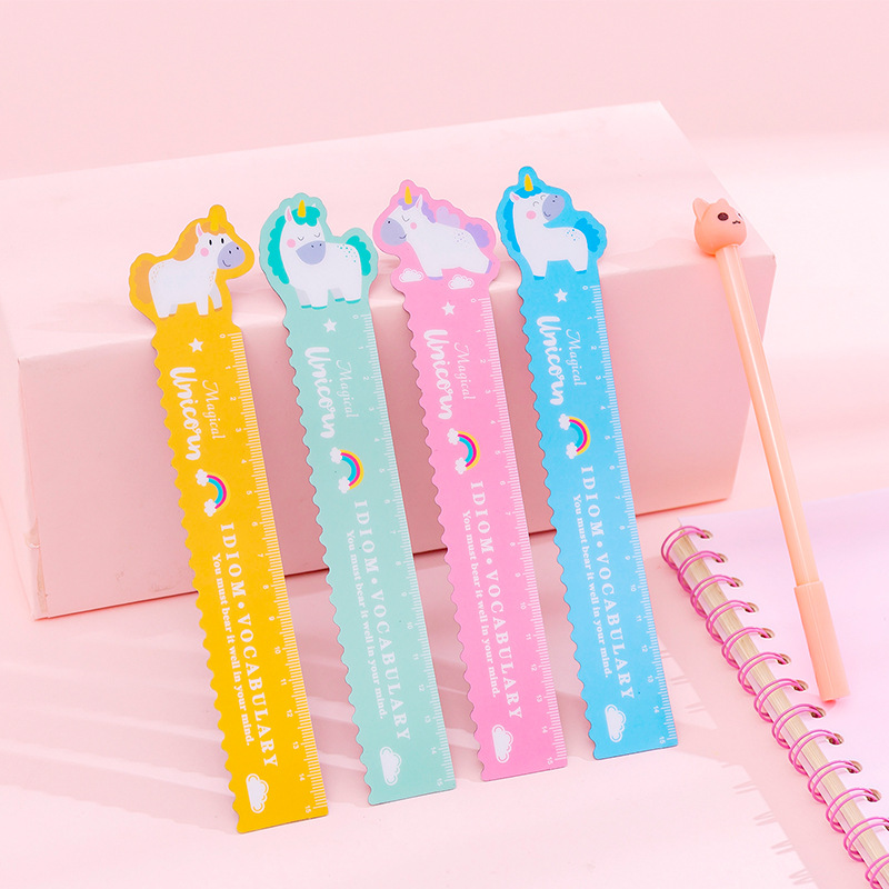 Creative Stationery Elementary Students Cartoon Lovely 15cm Ruler Can Be Bent Soft Ruler Wavy Line Ruler