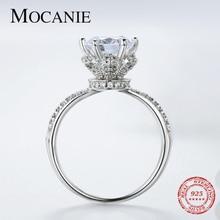 Mocanie, трендовые обручальные кольца из стерлингового серебра 925 пробы с большим фианитом для женщин, благородное кольцо принцессы королевы, ю...