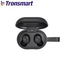 Tronsmart spunky bater verdadeiro sem fio bluetooth 5.0 fones de ouvido com qualcomm, cancelamento de ruído, 24h playtime, controle de toque