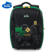 Russia Brand High Quality Delune Kids School Bag For Boys Girls Children Cartoon Shcool Bags Orthopedic Backpack
