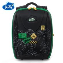 Russia Brand High Quality Delune Kids School Bag For Boys Girls Children Cartoon Shcool Bags For Kids Orthopedic School Backpack цена