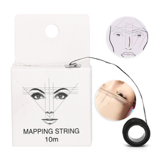 цена на 10m Pre Inked Mapping String Microblading Eyebrow Marker Thread Tool Pre Inked Mapping Strings Makeup Accessories