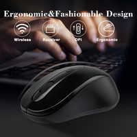 Universale 2.4GHz Mouse Wireless Optical 1600DPI Computer Senza Fili Ufficio Mouse con Ricevitore USB